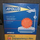 Apollo PP201C-Laser Copier Transparency Film,Removable Sensing Stripe,Ltr,Clear,100/Box-APOPP201C!