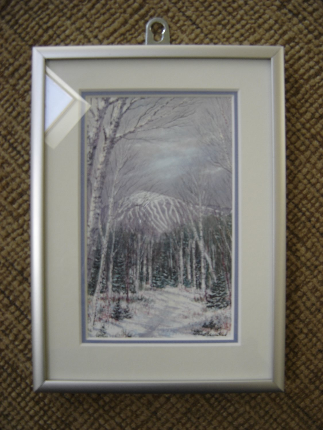 """STANLEY KEIRSTEAD'S """"SUGARLOAF"""" of MAINE PRINT - MATTED with ALUMINUM FRAME!"""