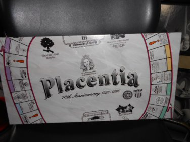 PLACENT'OPOLY - PLACENTIA CALIFORNIA 70th ANNIVERSARY BOARD GAME - CUSTOMIZED MONOPOLY!