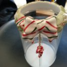 """YANKEE CANDLE """"CANDY CANE"""" CANDLE RING for Jar Candles by Yankee Candle!"""