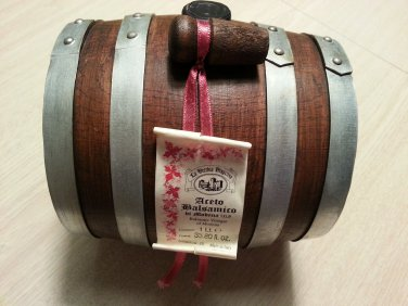 La Vecchia Dispensa Modena Artisan Oaken Cask of 12 Year Balsamic Vinegar - 1 Lt. 33.80 Fl. Oz.!