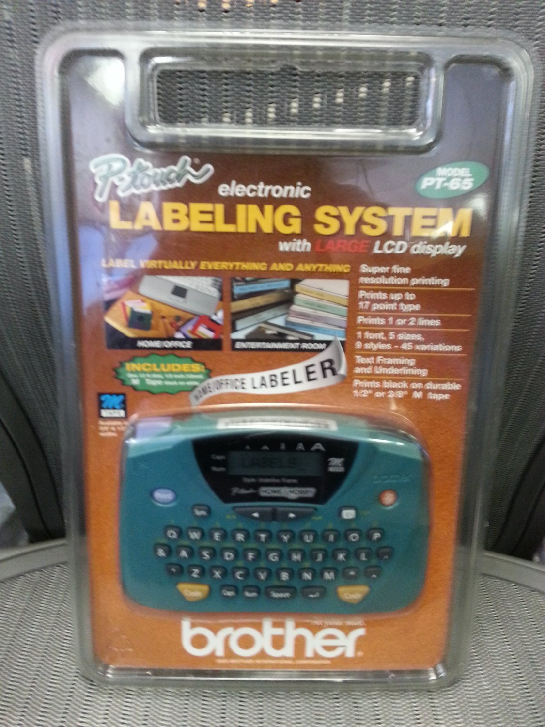 This is a picture of Dashing Brother P Touch Home and Hobby Label Maker Tape