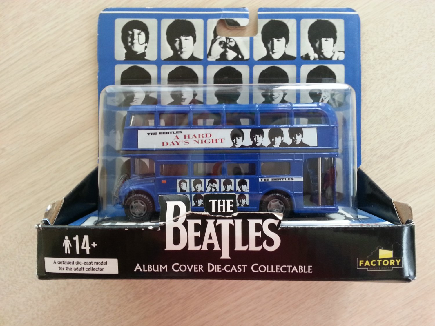 The Beatles A Hard Days Night Famous Covers Collectible Die-Cast Bus by Factory Entertainment!