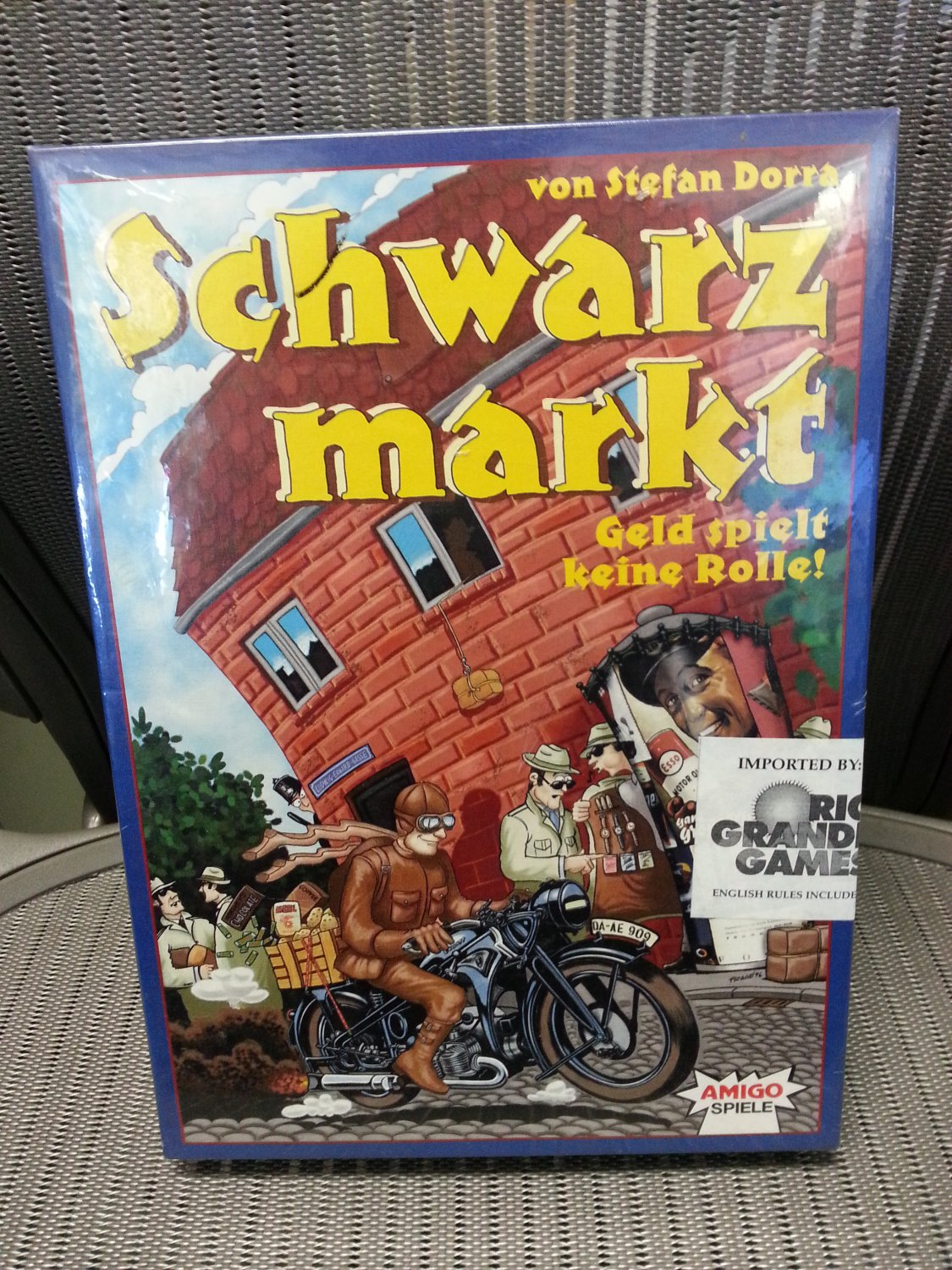 Schwarzmarkt Card Game by AMIGO from 1996 - Commodity Speculation - Imported by RIO GRANDE GAMES!