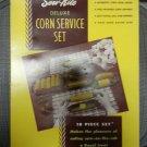 Vintage 1950 Serv-Rite Deluxe Corn Service Set Original Box - NEW - NEVER REMOVED FROM BOX!