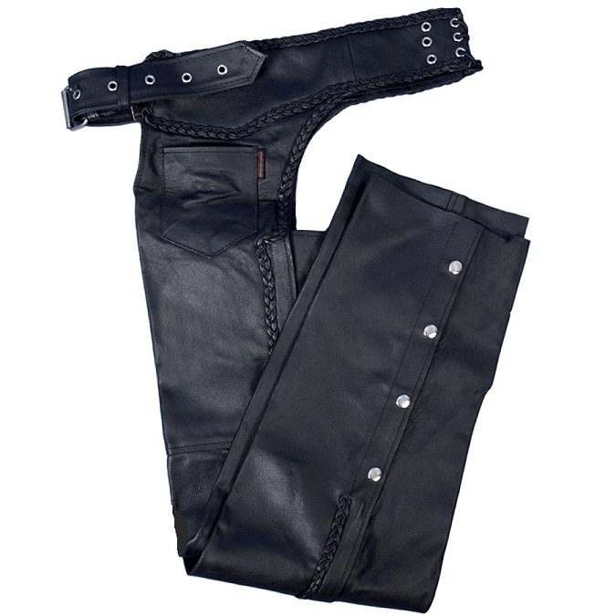 """Hot Leathers Heavyweight Unisex Leather Chaps - 18"""" Thigh!"""