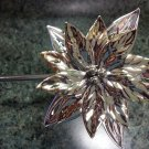 Department 56 Poinsettia Candle Snuffer 3D Two-Tone Silver/Gold in Original Box!