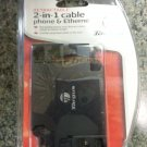 Targus PA225U Retractable 2 in 1 Phone and Ethernet Cord Plastic Casing!