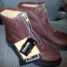 Double H Insulated Brown Leather Mens Zip Boot Size 7.5E!