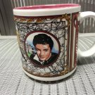 Elvis Presley's Graceland Coffee Cup Mug - Excellent - Records - Guitar - Rock N Roll King!