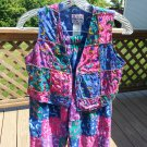KUDA KANA 2 pc Pant Set-Multi Color 100% Batik Cotton w/ Beads & Sequins - New w/ Tag - Size 6!