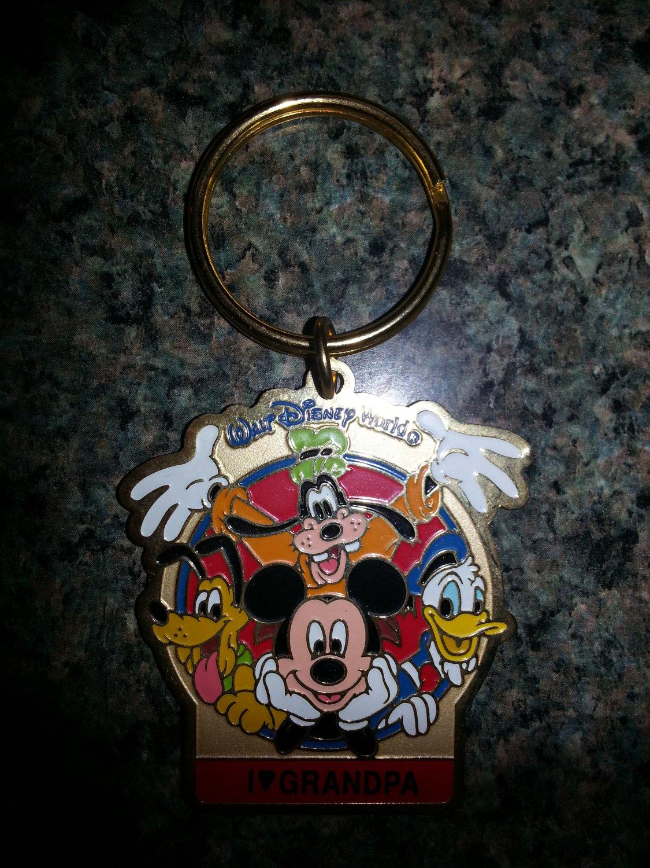 "Walt Disney World ""I Love Grandpa"" Keychain!"