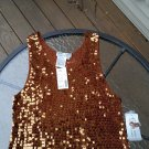 Adrianna Papell Copper Square Sequin Shell - GORGEOUS - Size 2X - Stretch Fabric!