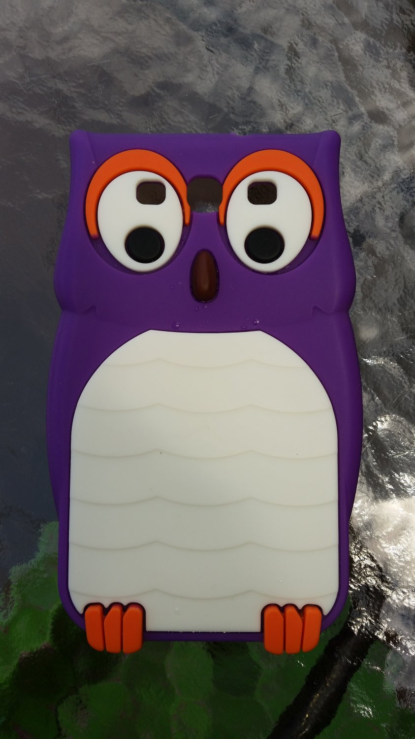 Insten Purple 3D Owl Silicone Soft Skin Case Cover For Samsung Galaxy S3!