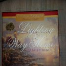 Lighting the Way Home Family Bible by Thomas Kinkade -Leather -featuring Full-Color Art by Kinkade!