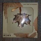 Real Life Leaf Ornament Gold by Still Life - Delicate Sugar Maple Leaf!