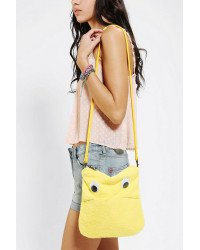 "Urban Outfitters Yellow ""Bob"" fuzzy lil' googly-eyed Ipad Bag by Cooperative!"