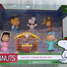 Peanuts Nativity Deluxe Figure Set - Charlie Brown, Snoopy, Sally, Lucy, Peppermint Patty!