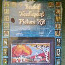 "Vintage Walco Products Do-It-Yourself Beaded Needlepoint Picture Kit ""#532 ""Fall"" - from 1977!"