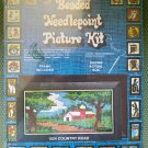 "Vintage Walco Products Do-It-Yourself Beaded Needlepoint Picture Kit ""#1524 ""Country Road""-1978!"