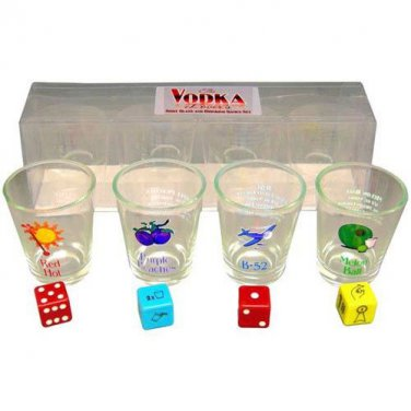 VODKA LOVER'S SHOT GLASS & DRINKING GAME SET - BRAND NEW!