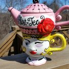 "Personalit-Tea Peggy Turchette Design ""FLIRT-TEA"" Tea for One Set - Stacking Teapot Mug!"