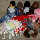 TY BEANIE BABIES - RETIRED - LOT of 9 SEALIFE BEANIES - NEW WITH TAGS!