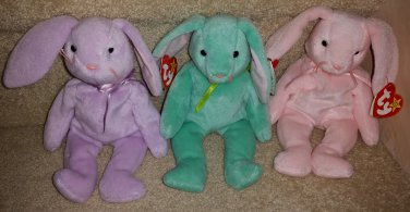 TY BEANIE BABIES - RETIRED - LOT #1 of 3 EASTER BUNNY BEANIES - NEW WITH TAGS!