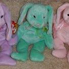 TY BEANIE BABIES - RETIRED - LOT #2 of 3 EASTER BUNNY BEANIES - NEW WITH TAGS!