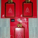 Red Glitter Enamel Photo Frame Ornament with Gift Tag Back-Lot of 3-Personalize your Holiday Gifts!