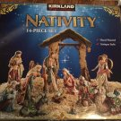 Kirkland Signature 14-Piece Porcelain Nativity Set #913541 - HAND PAINTED with GOLD ACCENTS!