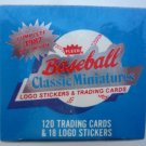 1987 FLEER FACTORY SEALED BASEBALL CLASSIC MINIATURES 120 TRADING CARDS & MORE!