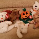 TY BEANIE BABIES - RETIRED - LOT of 6 HALLOWEEN/MISC. BEANIES - NEW WITH TAGS!