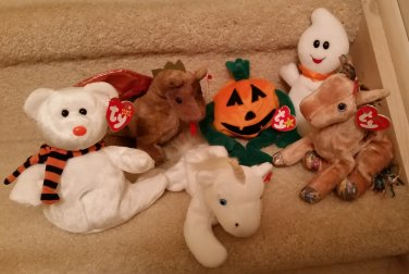 TY BEANIE BABIES - RETIRED - LOT of 6 HALLOWEEN MISC. BEANIES - NEW WITH  TAGS! 5aa69c44e197