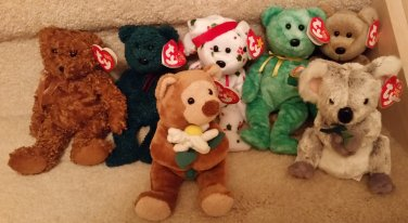 fcc00951a24 TY BEANIE BABIES-RETIRED-LOT  4-7 BEARS-HAWTHORNE