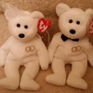 TY BEANIE BABIES - RETIRED - MR. & MRS. BRIDE and GROOM - NEW WITH TAGS!