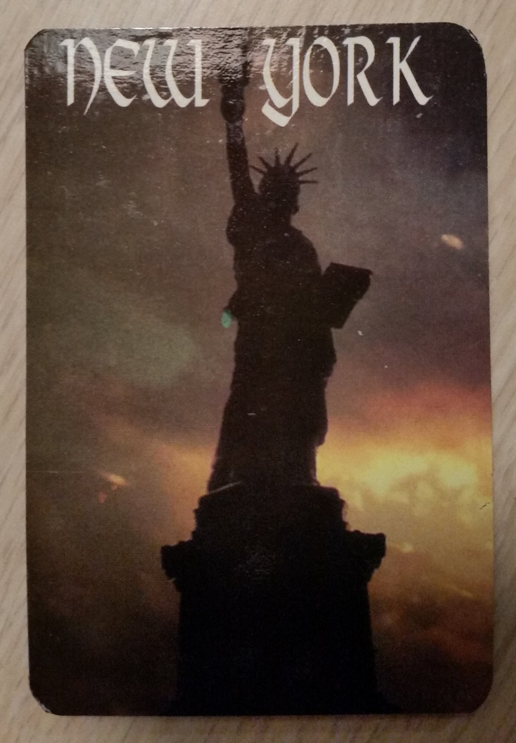 NEW YORK STATUE OF LIBERTY SILHOUETTE Credit Card Size Address Book Accordion Style-Magnetic Closure