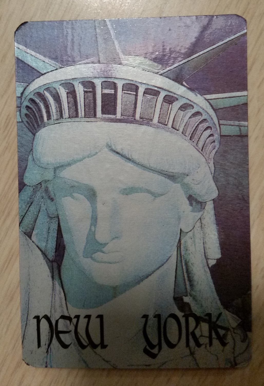 """NEW YORK STATUE OF LIBERTY """"UP CLOSE"""" Credit Card Size Address Book Accordion Style-Magnetic Closure"""