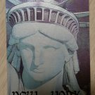 "NEW YORK STATUE OF LIBERTY ""UP CLOSE"" Credit Card Size Address Book Accordion Style-Magnetic Closure"