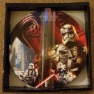 "Star Wars The Force Awakens 11"" Round Wood Wall Clock by Disney!"