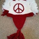 "Artesanias Imbacocha Native Works Hand-Knit Ecuadorian ""Peace Mohawk"" Hat - 100% Wool - EXTRA LARGE!"