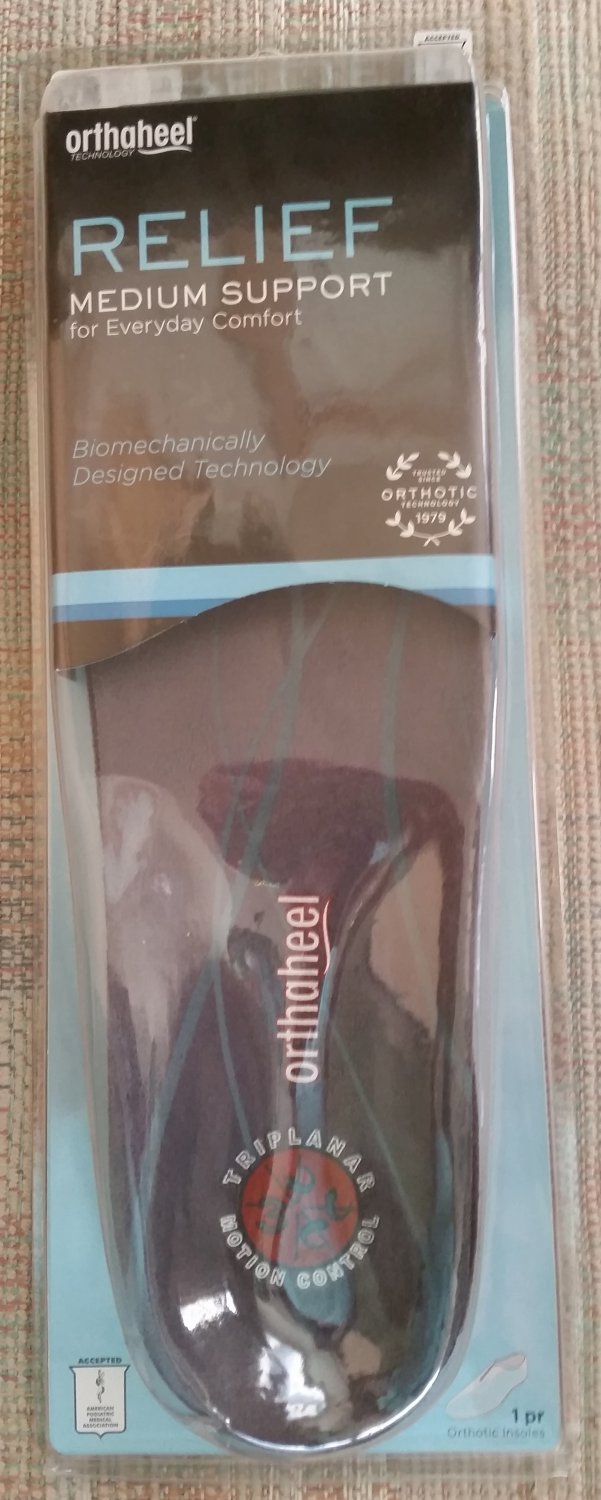 Orthaheel Insole Relief Full Length Medium Support - Xtra Large - Size 11-1/2 to 13!