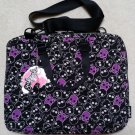 "Yak Pak Laptop Bag - "" Black Purple Skulls "" Design - 1479-017 - NEW with TAGS!"