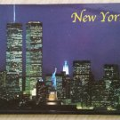 NEW YORK WORLD TRADE CENTER Credit Card Size Address Book Accordion Style - Magnetic Closure - Blue!