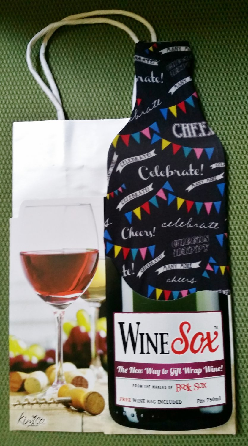 Wine Sox: Celebrate Design -- Stretchy fabric cover to spice up your boring wine bottles!
