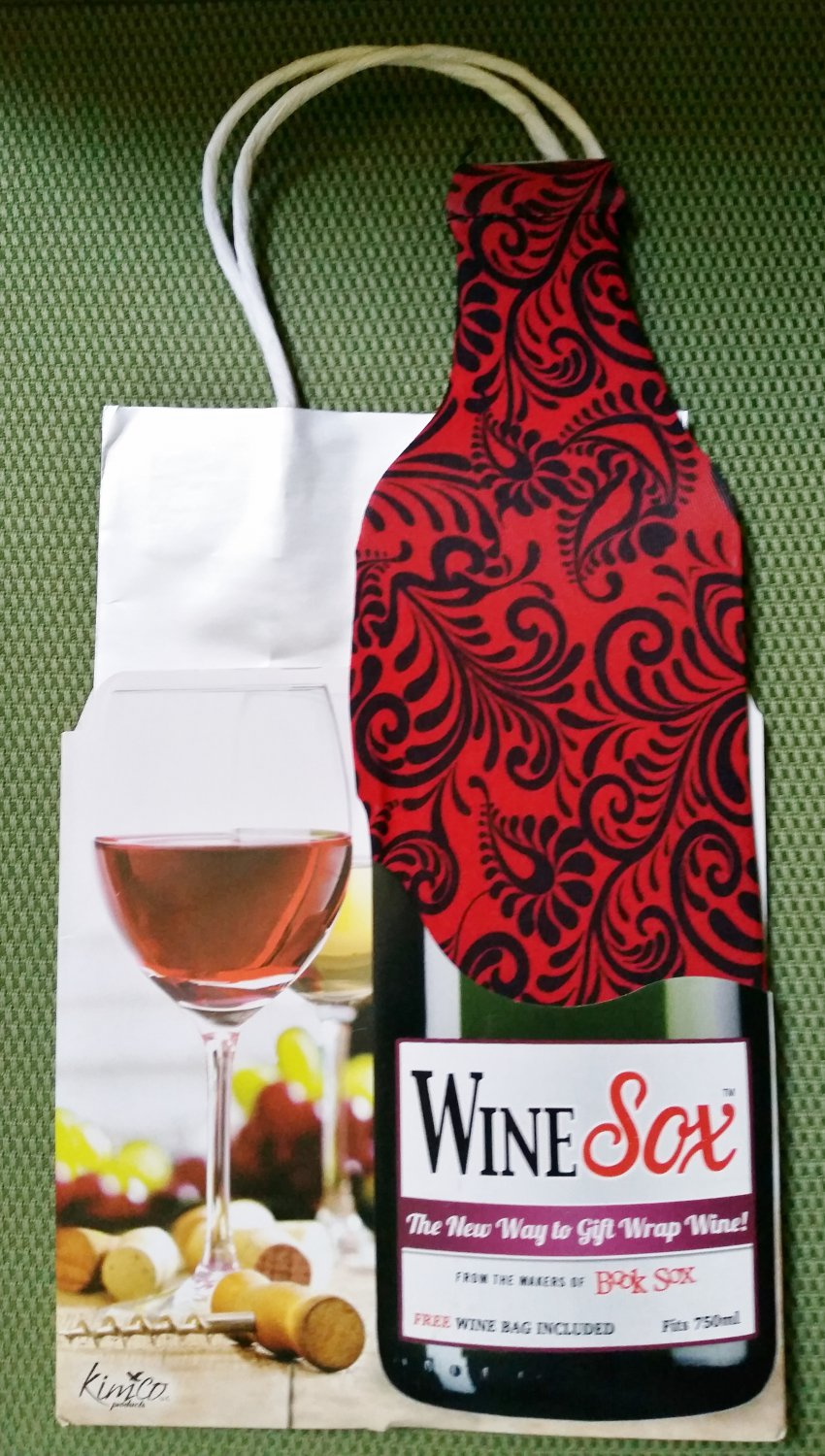 Wine Sox: All Occasion Design -- Stretchy fabric cover to spice up your boring wine bottles!