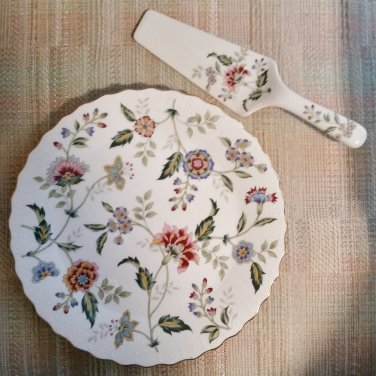 Vintage Andrea by Sadek Fine China Cake Pie Dessert Plate with Matching Serving Spatula!
