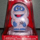 Rudolph the Red Nosed Reindeer Abominable Snowman Bumble Solar Bobbler Bobble Head!