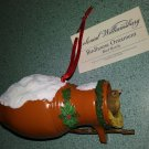 Colonial Williamsburg Bird Bottle Christmas Tree Ornament with Nesting Female Cardinal!