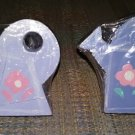 WATERING CAN WOODEN HAND-PAINTED DRAWER KNOBS PULLS - SET of 4 - SIGNED by ARTIST!